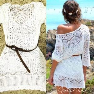 Other - Restocked🎉MIni Sexy See Through Crochet Coverup